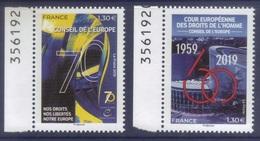 Service 174 175 Unesco - Conseil Europe Droits De L'Homme (2019) Neuf** - Service