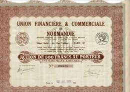 14-FINANCIERE ET COMMERCIALE De NORMANDIE. UNION ... - Shareholdings