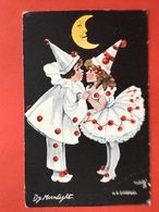 1913 - Illustrateur SANDFORD - BY MOONLIGHT - PIERROT EN PIERRETTE - MAAN - LUNE - EEN KUS - UN BAISER - Other Illustrators