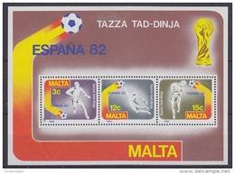 Malta 1982 World Cup Football Espana M/s ** Mnh (42791A) - 1982 – Spain