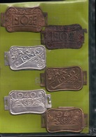 6 PLAQUE De TAXE FISCALE 1925.27.38.39.40.41 - VÉLO CYCLISME -  MINISTÈRE DES FINANCES - Cycling