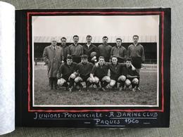 FOOTBALL ALBUM TOURNOI INTERNATIONAL JUNIOR R. DARING CLUB À AS STRASBOURG 1960 - Habillement, Souvenirs & Autres