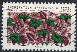 France 2019 Oblitéré Used Tissus Motifs Nature Inspiration Africaine Timbre 03 - Frankreich