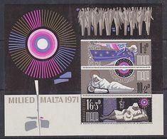 Malta 1971 Christmas M/s ** Mnh (42791C) - Malta