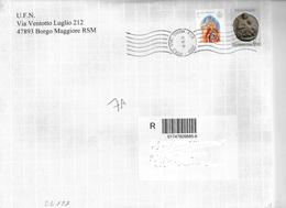 San Marino/Saint-Marin: Raccomandata, Registered, Recommandé - Saint-Marin