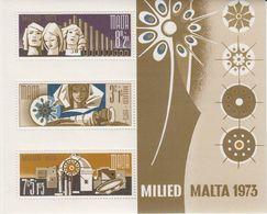 Malta 1973 Christmas M/s ** Mnh (42791D) - Malta