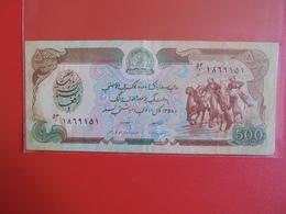 AFGHANISTAN 500 AFGHANIS 1979-91 CIRCULER - Afghanistan