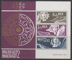 Malta 1972 Christmas M/s ** Mnh (42791E) - Malta
