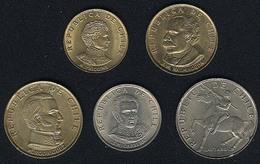 Chile, Lot 1971: 10, 20, 50 Centesimos, 1 + 5 Escudo(s), UNC - Chile