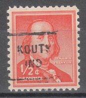 USA Precancel Vorausentwertung Preo, Locals Indiana, Kouts 712 - Vorausentwertungen