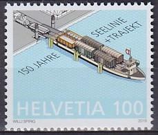 2019 SUISSE Switzerland 150 Jahre Seelinie – Trajekt ** MNH Voile Bateau Yacht Bateau Dériveur Sailing Boat Dingh [ee62] - Ships