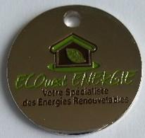 Jeton De Caddie - ECOuest ENERGIE - Votre Spécialiste Des Energies Renouvelables - En Métal - Neuf - - Einkaufswagen-Chips (EKW)
