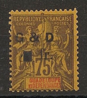 Guadeloupe - 1903 - N°Yv. 49c - 1f Sur 75c Violet - Neuf * / MH VF - Neufs