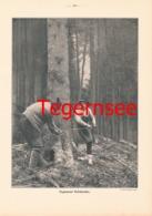 618 Tegernseer Holzknechte Waldbauer Druck 1905 !!! - Unclassified