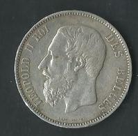 Monnaie Belge Leopold II  5 Francs1871 - 09. 5 Francs