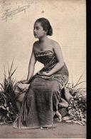 INDONESIE. JAVA. Femme Indigène. Carte Photo. - Indonesia