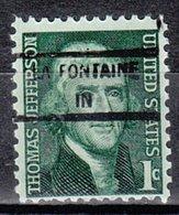 USA Precancel Vorausentwertung Preo, Locals Indiana, La Fontaine 846 - Vorausentwertungen