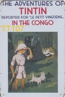 Kuifje/Tintin In The Congo (TT107) Metalen Plaat/plaque De Métal/tin Sign 30 X 20 Cm - Plaques En Tôle (après 1960)