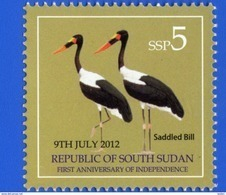 SOUTH SUDAN 2nd Issue = Süd-Sudan 5 SSP Saddle-billed Stork Birds Soudan Du Sud - Zuid-Soedan