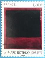 France 2016 : Série Artistique. Personnalité Mark Rothko N° 5030 Oblitéré - Oblitérés