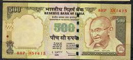 INDIA P99h 500 RUPEES 2012 #8HP LETTER E  Sign.20  VF - India