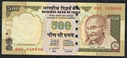 INDIA P99f1 500 RUPEES 2010 #9FN NO LETTER   Sign.20  VF - India