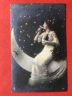 1912 - SURREALISME - FEMME SUR LA LUNE AVEC BOUTEILLE ET COUPE DE CHAMPAGNE - VROUW OP DE MAAN MET CHAMPAGNE - Femmes