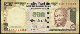 INDIA P99f1 500 RUPEES 2010 #8KP NO LETTER   Sign.20  VF - India