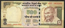 INDIA P99f1 500 RUPEES 2010 #2NT NO LETTER   Sign.20  VF - India