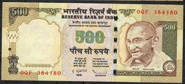 INDIA P99f1 500 RUPEES 2010 #OQF NO LETTER   Sign.20  VF - India