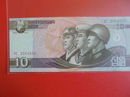 COREE(NORD) 10 WON 2002 PEU CIRCULER/NEUF - Corée Du Nord