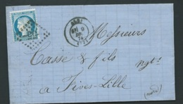 Lac , Lettre Affranchie Par Yvert N°60  Oblitéré Gc  55  Albi , Dec 1874   -   Bpho2104 - 1849-1876: Periodo Classico