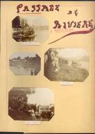 CHOISY AU BAC -1903 - RARE DOUBLE PAGE D'ALBUM D'EPOQUE - MILITARIA - 6 PHOTOS ANCIENNES - PASSAGE DE RIVIERE - Autres Communes