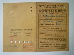 GP 2019 - 1208  GENSAC  (Gironde)  :  CARTE De TABAC  1942    XXX - Old Paper