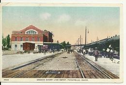 OREGON SHORT LINE DEPOT / POCATELLO - IDAHO (GARE US AVEC TRAIN) - Pocatello