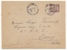 INDOCHINE - Enveloppe (entier 5c) Oblitérée Poste Rurale Chu-Thuon - Province De Ha-Tinh - Cachets Arrivée Au Dos - 1935 - Indochina (1889-1945)
