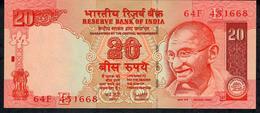 INDIA P96c2 20 RUPEES 2008 #64F LETTER E Sign.19 UNC. - India