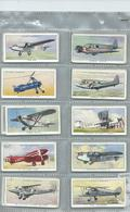 Players   Cigarette Cards  50/50 Full Set   Civil Aeroplanes  Self Adhesive Gummed Backs - Player's