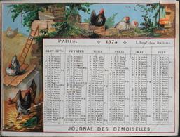 PETIT CALENDRIER De 1875 - JOURNAL Des DEMOISELLES , 1 Boulevard Des Italiens PARIS - En L'état - Calendars