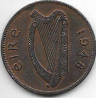*ireland  1 Penny  1948  Km 11  Vf+ - Irlande