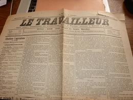 Lot De 3 ères Pages De Journaux Le Travailleur Organe Socialiste Arrond. De Huy Waremme 1906-7-8 - Journaux - Quotidiens