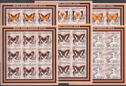 YY332 IMPERFORATE 2002 MOZAMBIQUE FLORA & FAUNA BUTTERFLIES SCOUTING !!! 9SET MNH - Papillons