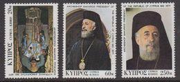 Cyprus 1977 Death Of Makarios 3v ** Mnh (42794A) - Ongebruikt