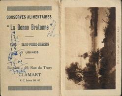 """PETIT CALENDRIER De 1929 - Conserves Alimentaires """"La Bonne Bretonne"""" - En Bon état - Calendars"""