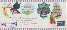 TONGA Lettre Recommandée Nuku'Alofa 1974 De Couvent Ste Thérèse Houma Pour Lunel Hérault France - Tonga (1970-...)