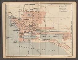 CARTE TOPOGRAPHIQUE 1922 SAINT NAZAIRE PENHOET CHANTIER ATLANTIQUE - Imp DUFRENOY PARIS - Cartes Topographiques