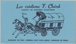 BUVARD - LES CREATIONS F. CLAIRET - JOUETS EN MATIERE PLASTIQUE - Non Classés