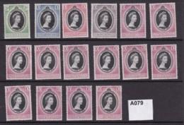 S E Asia And Fiji 1953 Coronation 16 Values (MNH) - Stamps
