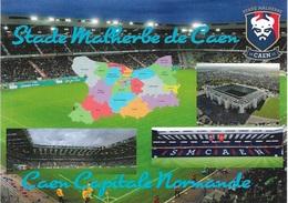 Stade De Football - Stade Malherbe De Caen - Capitale Normande - 4 Vues + Carte Géo - Cpm - Vierge - - Soccer