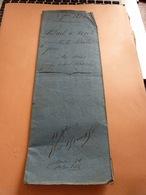 Acte Notarié 8/9/1835 Maitre Chapelle Notaire à Huy Familles Borlée Marchin Diacle Marchin Lieu Dit Du Fourneau - Manuscrits